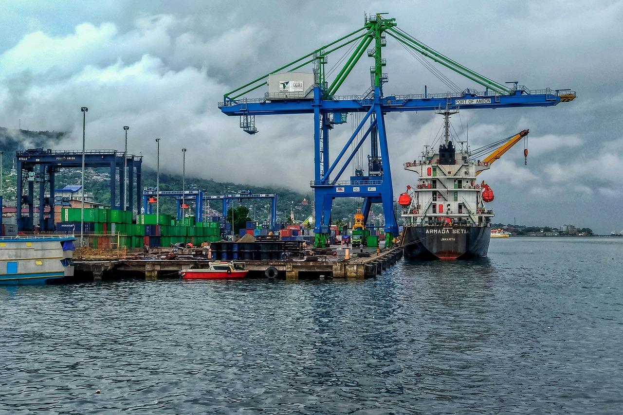 Ship at a port
